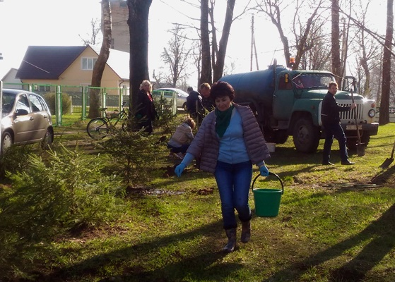 Республиканский субботник в Год малой родины, г. Славгород, апрель 2018