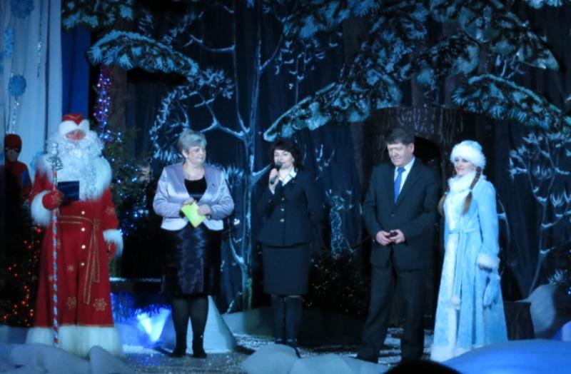 Поздравление детей на районной елке. Краснополье 2015