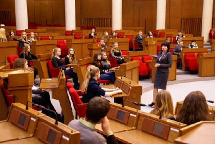 Встреча с молодежью из Быхова и Славгорода в Овальном зале