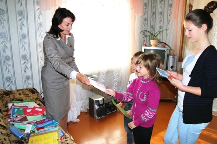"""Акция """"В школу с радостью"""".г. Славгород август 2015г"""