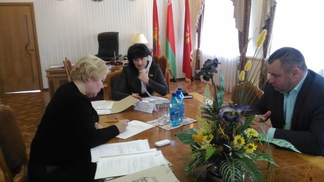 Прямая линия с  избирателями в г.Костюковичи, октябрь 2016 г.