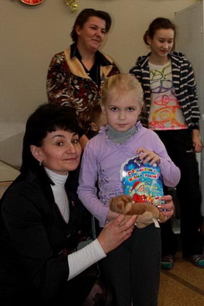 Поздравление детей с Новым годом в Славгородской ЦРБ