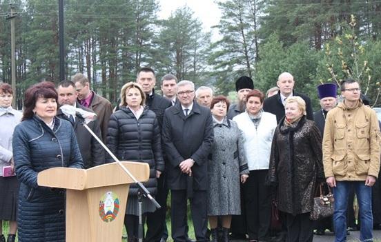 Выступление на митинге, посвященном 30-летию катастрофы на ЧАЭС в г. Костюковичи